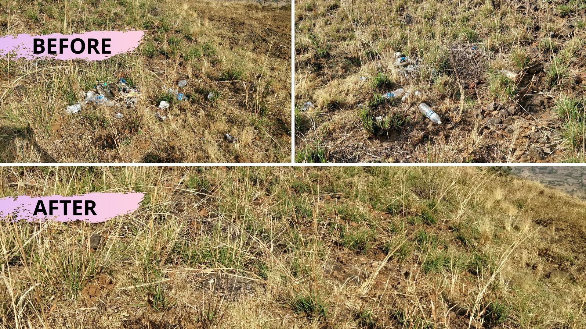 Harihar-fort-clean-up-trek-for-nature-ecopurple
